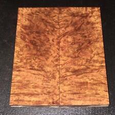 Book Matched Darkeye Corrugata Burl Knife Gun Scales 001-760