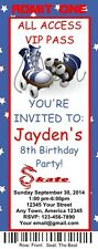 12 Personalized Roller Skate Birthday Ticket Invitations w/Envelops