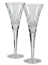 """Waterford Crystal Lismore Champagne Toasting Flute SET/2 #107608 9.25""""H New"""