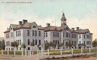 Pocatello Idaho~High School~Victorian Belfry Tower~1908 Postcard
