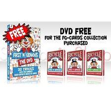 Bicycle Fast Fake'N'Genious Playing Cards – Trio Pack 3 Decks & Free Dvd