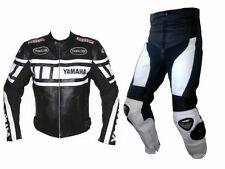 MEN Multicolor Motorcycle RACING Leather Suit Jacket Hump Pants YAMAHA XS-6XL