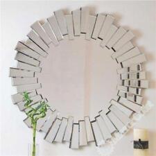 Specchi nero rotondo per la decorazione della casa