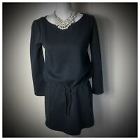 Elie Tahari Women's Black long sleeve draw strings drop waist dress size XS