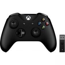 Microsoft Xbox Controller Black + Wireless Adapter for Windows 10 - Wireless - B