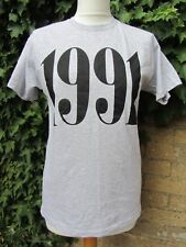 Loving Youth-Ladies Grey Vintage T-Shirt '1991' Size S/M