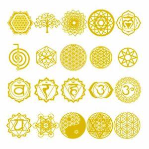 Sacred geometry Metatron Eye Ohm Yin-Yang Tree Flower Yoga Star Energy Stickers