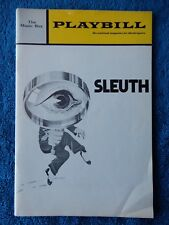 Sleuth - Music Box Theatre Playbill - April 1971 - Anthony Quayle - Keith Baxter