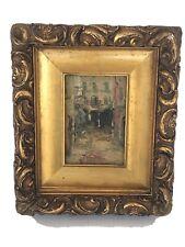 "original  Circa 1880 ""Paris Street "" Listed American Artist Aaron Dikeman"