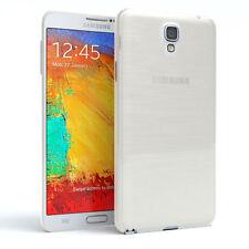 Schutz Hülle für Samsung Galaxy Note 3 Neo Brushed Cover Handy Case Weiß