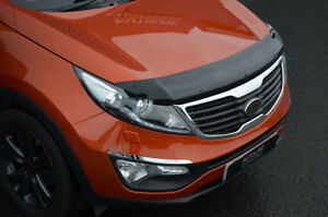 Bonnet Trim Hood Protector Bug Guard Wind Deflector To Fit Kia Sportage (10-15)