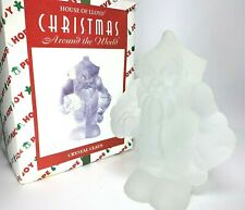 Vintage 96' Christmas Around World House Of Lloyd Crystal Claus Glass Sculpture
