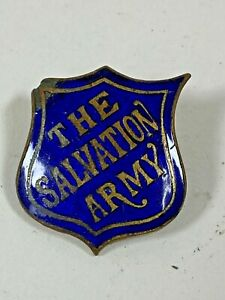 The Salvation Army Early Blue Shield Enamel Pin Badge Button Lapel Badge