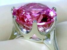 10ct PINK SAPPHIRE RING SIZE 9 925 STERLING SILVER USA MADE