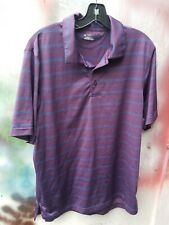 Under Armour Golf Striped Polo Heat Gear Large