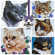 Cross Stitch Cat Embroidery Patterns for Cushion Pillow design /CN