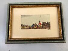 Hand colored engraving of Men Loading Canon by Stefano Della Bella