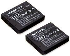 2x Battery for DMW-BCF10 E Panasonic Lumix DMC-F2 DMC-F3 DMC-F4 DMC-FH1 DMC-FH3