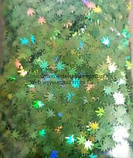 Weed Leaf Glitter Nail Art Holographic Green Grass Marijuana Decoration Manicure