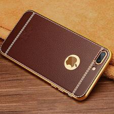 Luxus Leder Handy Tasche Schutz Hülle Etui Bumper Cover für iPhone 6 6S 7 8 Plus