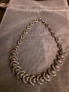 Stunning Very Vintage Marcasite And Sterling Silver Collar Necklace