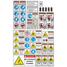 Forklift Safety Decals Kit | 7 Year Vinyl & Laminated | Forklift Safety Stickers