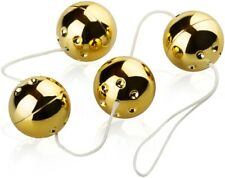 vier vibrierende goldene Kugeln 3,5 cm Durchmesser Balls Geisha Liebeskugeln