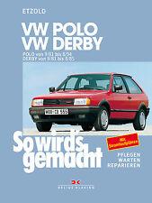 VW POLO 2 86C Derby ab 1981 Reparaturanleitung Handbuch Reparaturbuch Buch Book