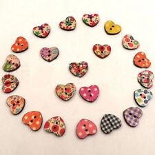 100*Boutons variété couleurs motifs multiples de bois joli mignon enfants pêche