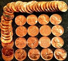1 1957 Lincoln Wheat Cent Red Gem Proof Roll (50 coins)