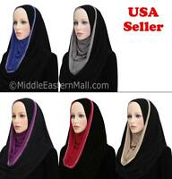 Jersey Hoodie Cotton blend Al Amira PULL ON READY JERSEY Hijab One Piece Stretch