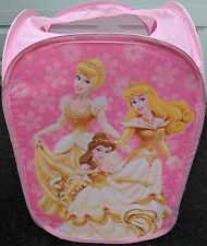 Disney Princess Pink Gold Girls Pop-Up Collapsible Clothes Laundry Hamper