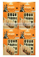 HALLOWEEN 20pc Nail Stickers METALLIC TATTOOS Silver+Gold+Black *YOU CHOOSE* New