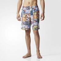 adidas ORIGINALS AOP BOARD SHORTS MEN'S BEACH SUMMER SWIMMING POOL