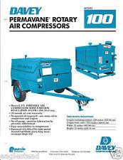 Equipment Brochure - Davey - 100 125 150 190 Air Compressors - 4 items (E3035)