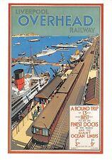 B99448 liverpool overhead railway ship bateaux uk train