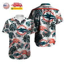 Miami Dolphins Hawaiian Shirt Men's Beach Party Aloha Shirt Short Sleeve T-Shirt