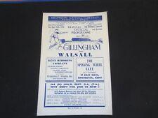 1950-51 DIV 3  GILLINGHAM v WALSALL