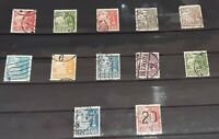 Denmark 1927 - collection of early Caravel stamps