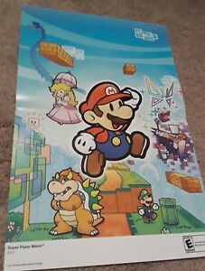 Super Smash Bros Brawl/Super Paper Mario 15.5''x11.5'' Double Sided Poster