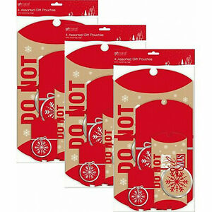 3 x 4 (12) Assorted Gift Pouches with matching tags