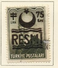 Turkey 1957 Optd Resmi Star & Crescent Issue Fine Used 75k. Surcharged 086014