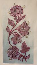 Laura Perin JACOBEAN FLOWERS Embroidery Blackwork Chart RARE