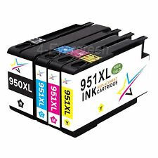 4 Pack New Gen 950XL 951XL Ink for HP Officejet Pro 8610 8600 8610 Plus Printer