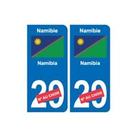 Namibie Namibia sticker numéro département au choix autocollant plaque immatricu