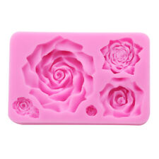 DIY Silicone Rose Flower Mold Cakes Sugarcraft Molds Cake Decorating Supplies