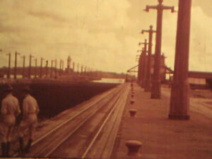 16mm FILM  HOME MOVIE  1930s trip to PANAMA CANAL & train ride into interior
