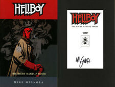 Mike Mignola SIGNED AUTOGRAPHED Hellboy The Right Hand of Doom SC New Book #4