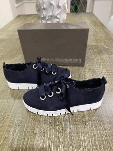 Kennel & Schmenger Navy Pearl Suede Sneakers/UK 6/worn A Few Times