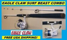 EAGLE CLAW Saltwater 8' SURF BEAST Combo BRAND NEW! FREE USA SHIPPING!